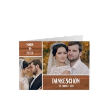 """Danksagungskarte Hochzeit """"Landliebe"""""""
