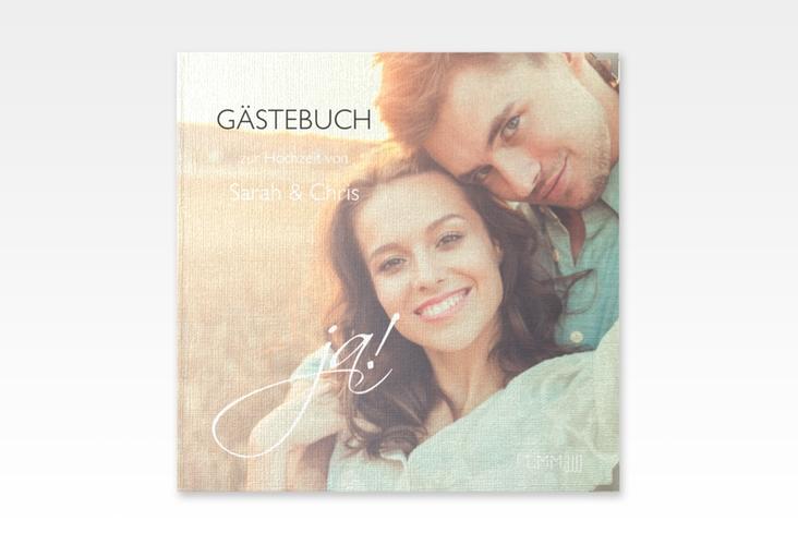"Gästebuch Selection Hochzeit ""Clarity"" Leinen-Hardcover weiss"