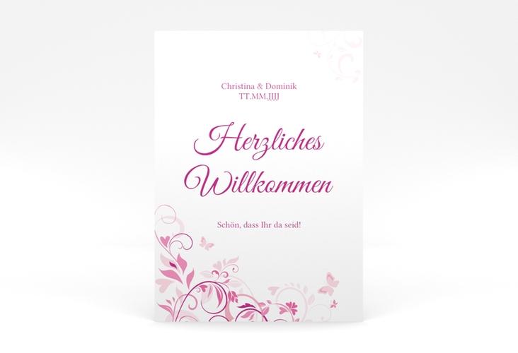 """Willkommensschild Poster """"Lilly"""" 50 x 70 cm Poster"""