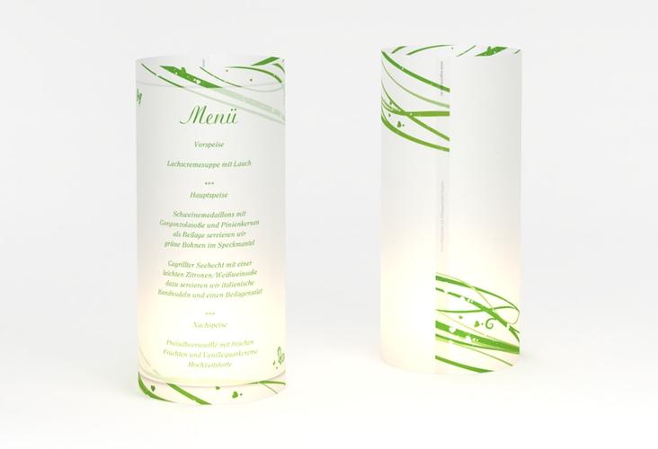 """Windlicht Menü Hochzeit """"Mailand"""" Windlicht gruen"""