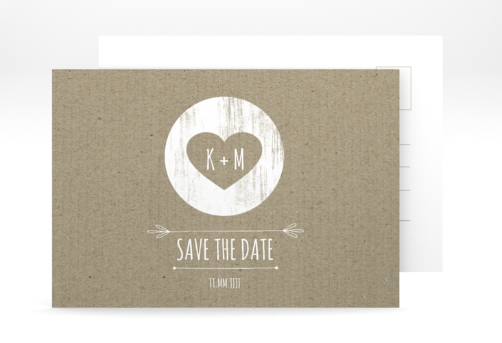 "Save the Date-Postkarte ""Shabby"" A6 Postkarte"