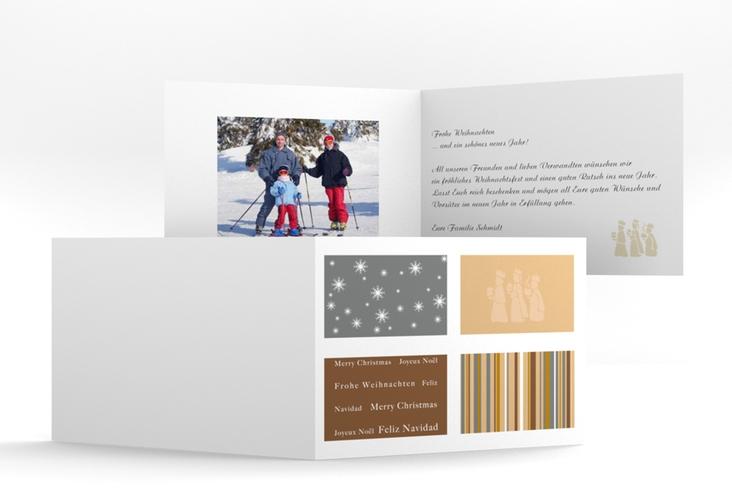 """Weihnachtskarte """"Morgenland"""" A6 Klappkarte Quer"""