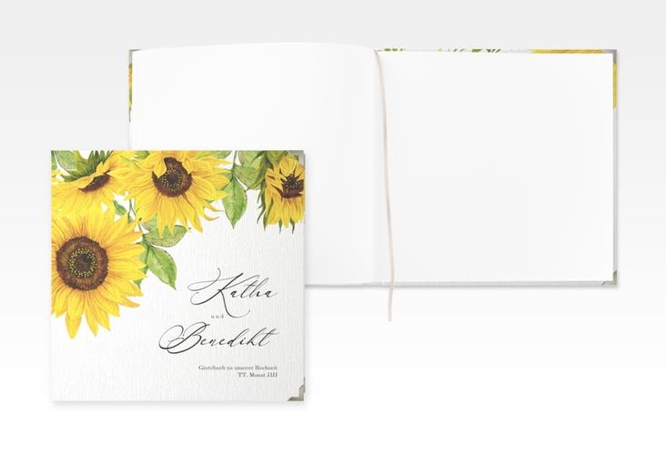 """Gästebuch Selection Hochzeit """"Sonnenblume"""" Leinen-Hardcover"""