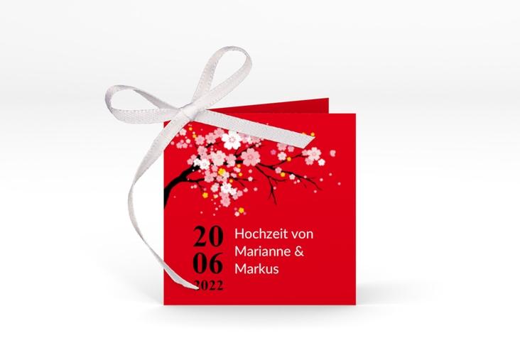 "Geschenkanhänger Hochzeit ""Sakura"" Geschenkanhänger 10er Set rot"