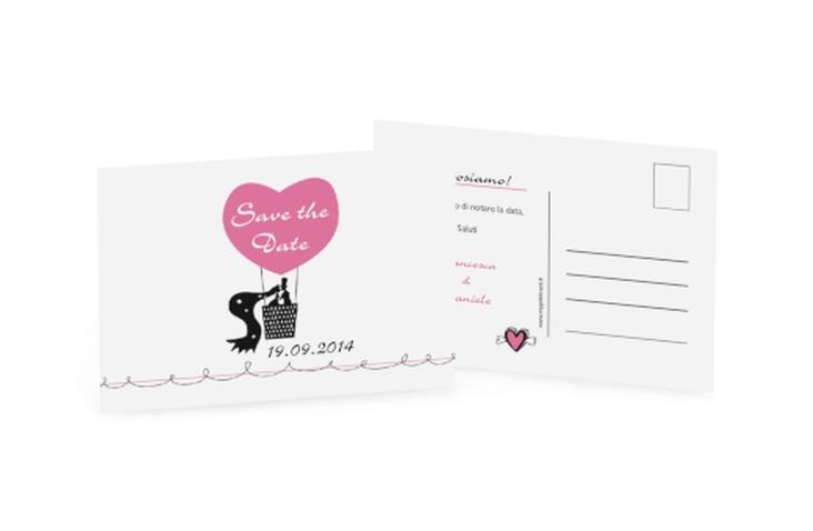 Biglietti Save the Date collezione Alicante A6 Postkarte