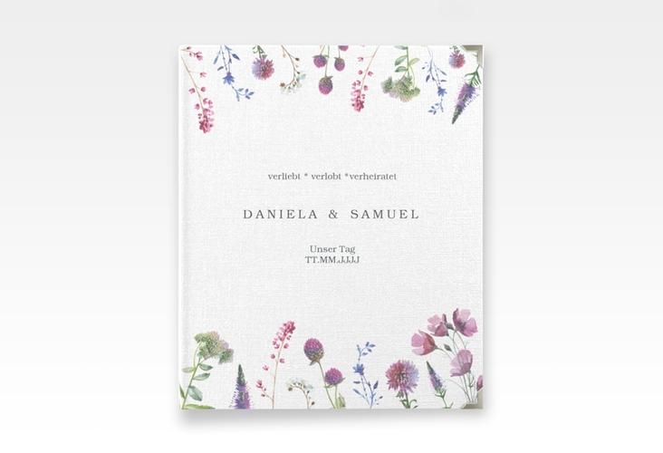 """Hochzeitsalbum """"Wildblumen"""" 21 x 25 cm weiss"""
