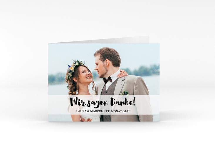"""Danksagungskarte Hochzeit """"Mirage"""" A6 Klappkarte Quer"""