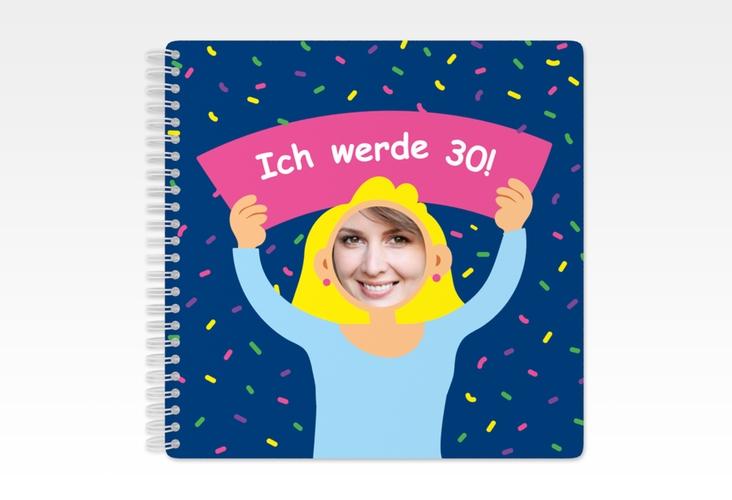 "Gästebuch Geburtstag ""Comic Woman"" Ringbindung"