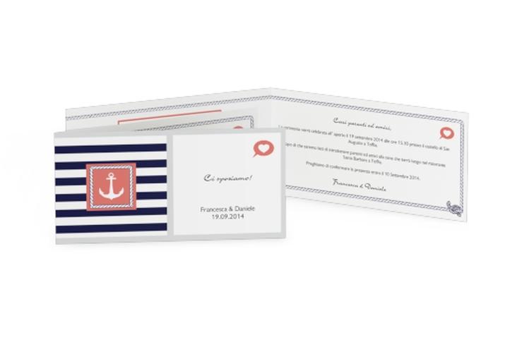 Inviti matrimonio collezione Lecce DIN lang Klappkarte
