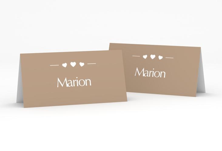 """Tischkarte Hochzeit """"Jena"""" Tischkarten braun"""