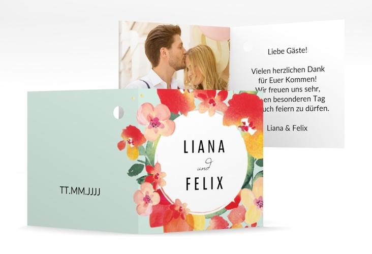 "Geschenkanhänger Hochzeit ""Exotic"" Geschenkanhänger 10er Set mint"