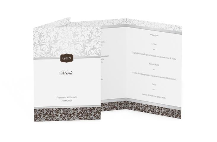 Menù matrimonio collezione Latina DIN A5 geklappt marrone