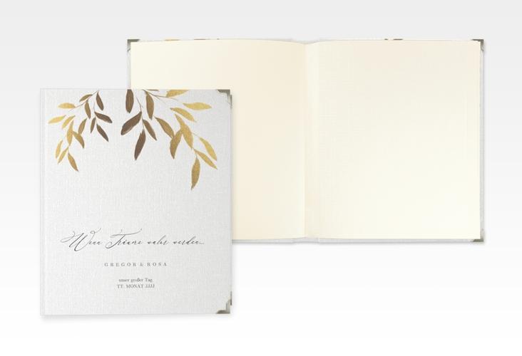 """Hochzeitsalbum """"Demure"""" 21 x 25 cm weiss"""