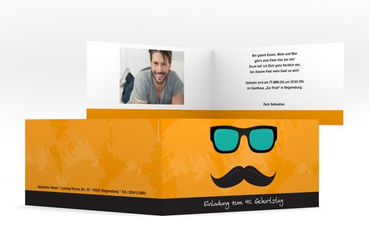 """Einladungskarte """"Stefan"""" DIN lang Klappkarte"""