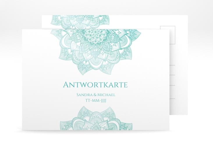 """Antwortkarte Hochzeit """"Delight"""" A6 Postkarte mint"""