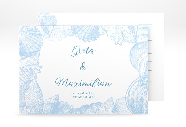 """Verlobungskarte Hochzeit """"Muschelreich"""" A6 Postkarte"""