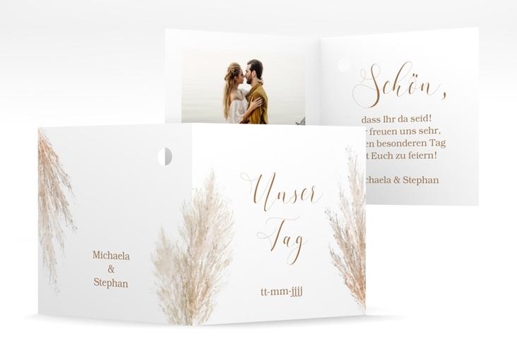 """Geschenkanhänger Hochzeit """"Pampasgras"""" Geschenkanhänger 10er Set weiss"""