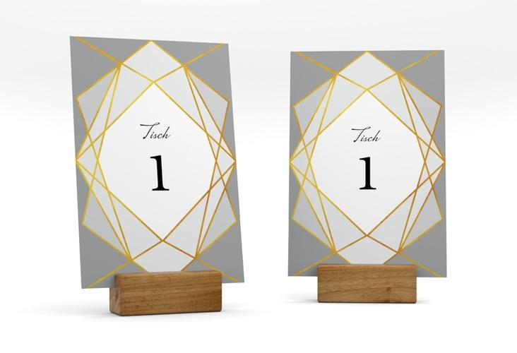 """Tischnummer Hochzeit """"Geometric"""" Tischaufsteller"""