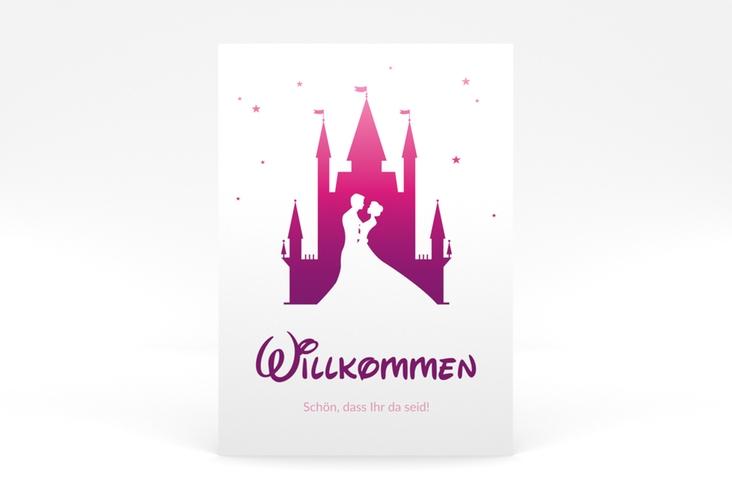 """Willkommensschild Poster """"Castle"""" 50 x 70 cm Poster pink"""