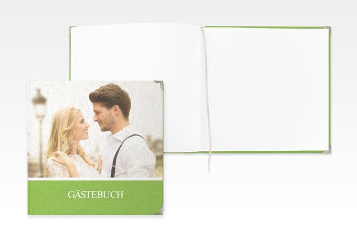 "Gästebuch Selection Hochzeit ""Balance"" Leinen-Hardcover gruen"