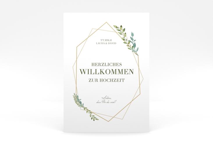 """Willkommensschild Poster """"Herbarium"""" 50 x 70 cm Poster gold"""