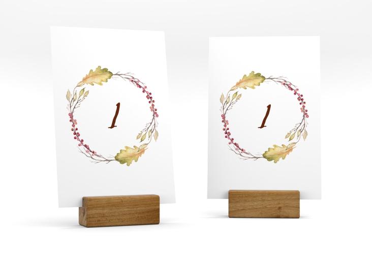 """Tischnummer Hochzeit """"Herbsthochzeit"""" Tischaufsteller"""