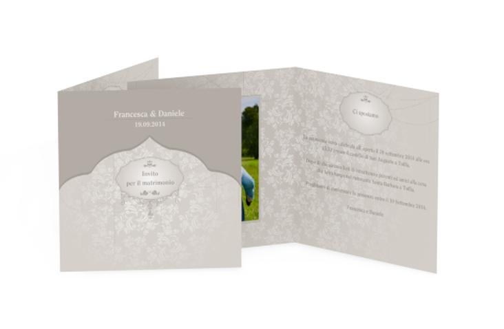 Inviti matrimonio collezione Francoforte Quadratische Klappkarte
