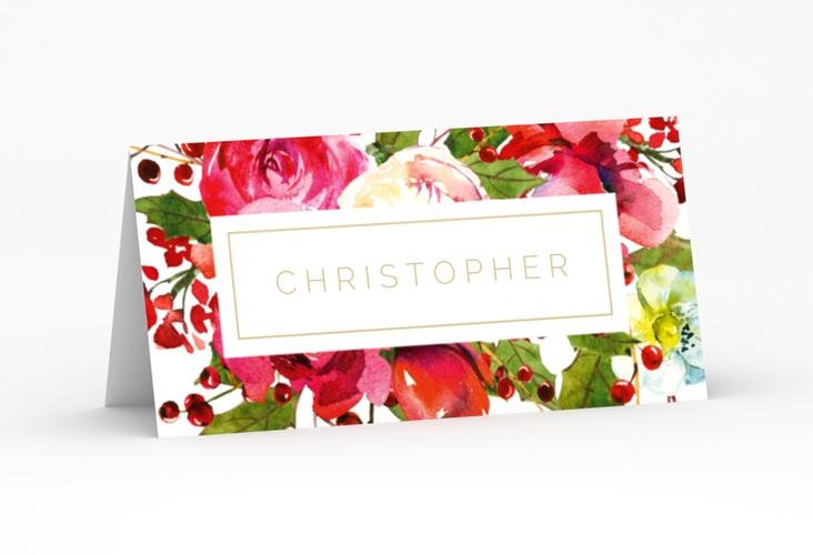 """Tischkarte Hochzeit """"Blumenpracht"""" Tischkarten weiss"""