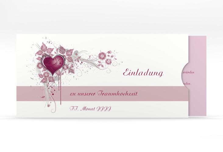 """Hochzeitseinladung """"Triest"""" Einsteckkarte pink"""