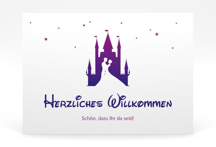 """Willkommensschild Poster """"Castle"""" 70 x 50 cm Poster lila"""
