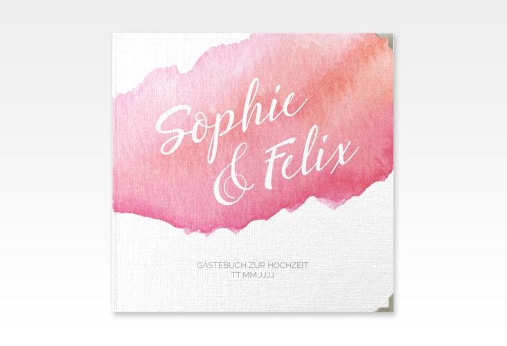 "Gästebuch Selection Hochzeit ""Aquarella"" Leinen-Hardcover"