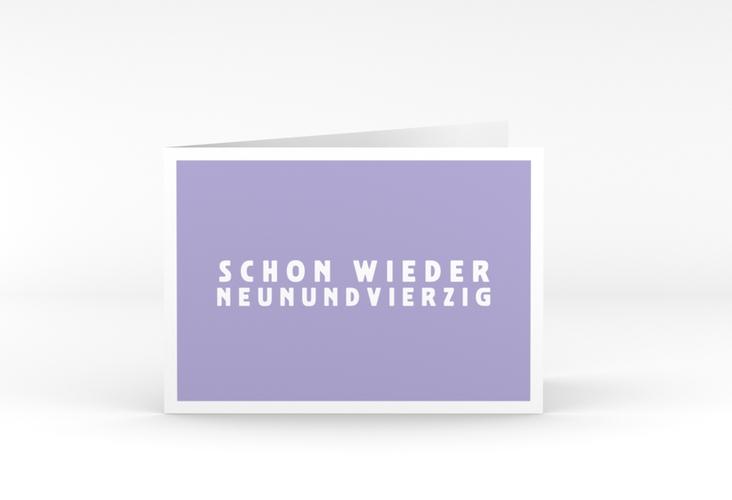 "Einladungskarte ""Gag"" A6 Klappkarte Quer flieder"