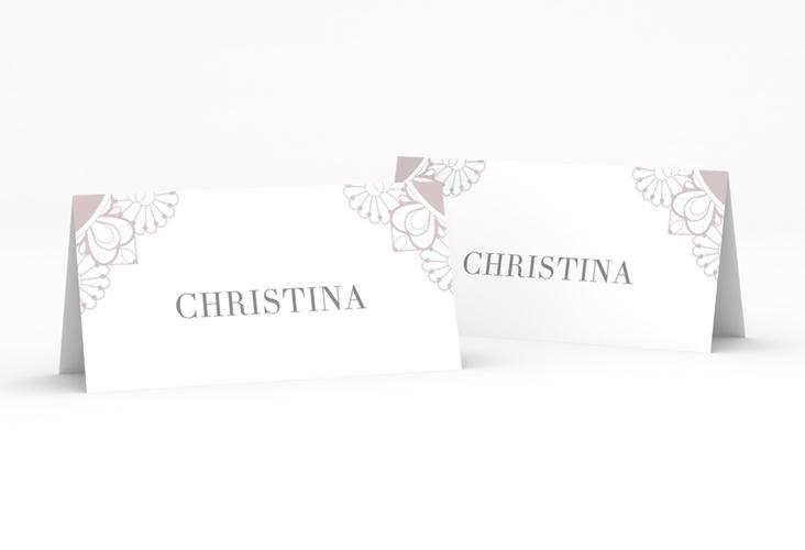"""Tischkarte Hochzeit """"Nostalgie"""" Tischkarten flieder"""
