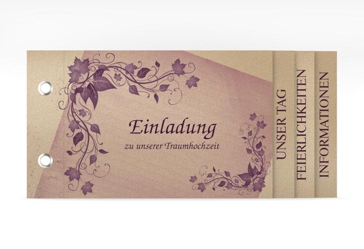 """Hochzeitseinladung """"Erfurt"""" Booklet"""