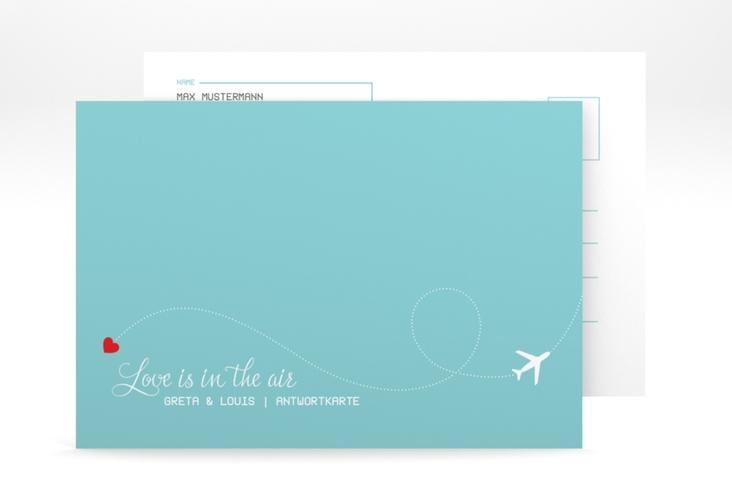"Antwortkarte Hochzeit ""Weddingpass"" A6 Postkarte"