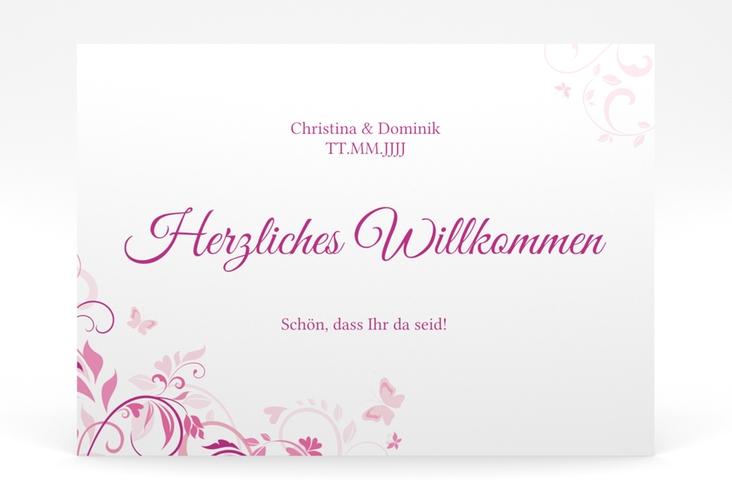 """Willkommensschild Poster """"Lilly"""" 70 x 50 cm Poster pink"""