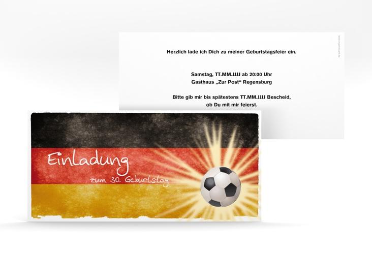 "Einladungskarte ""Markus"" DIN lang"