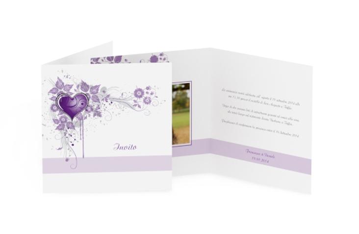 Inviti matrimonio collezione Trieste Quadratische Klappkarte