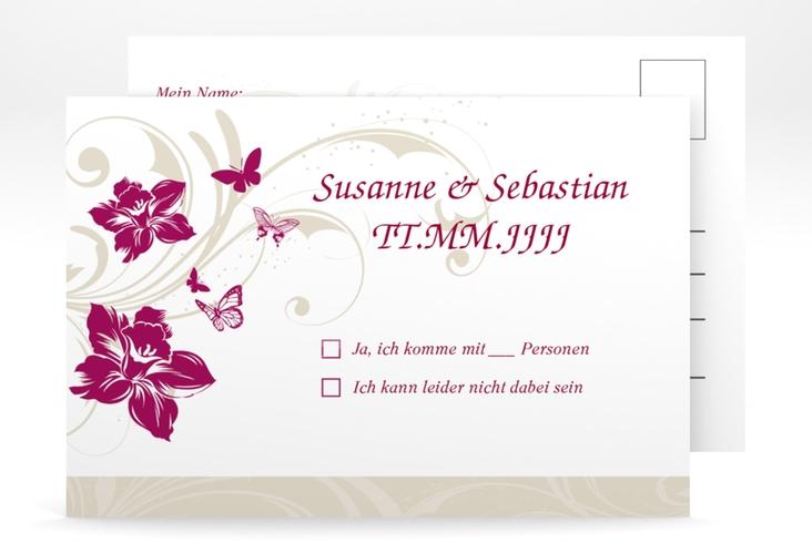 "Antwortkarte Hochzeit ""Parma"" A6 Postkarte"