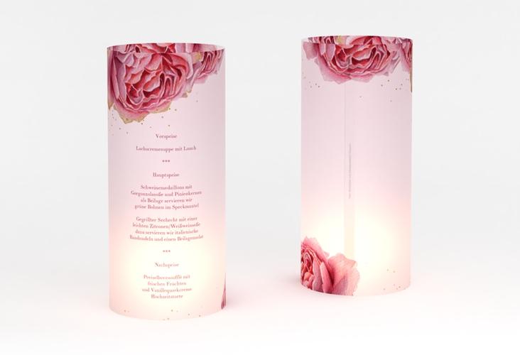 """Windlicht Menü Hochzeit """"Cherie"""" Windlicht gold"""