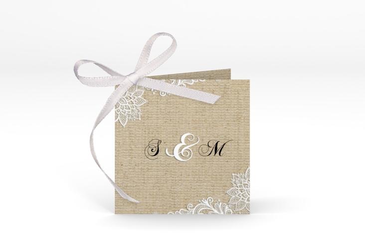 """Geschenkanhänger Hochzeit """"Lace"""" Geschenkanhänger 10er Set beige"""