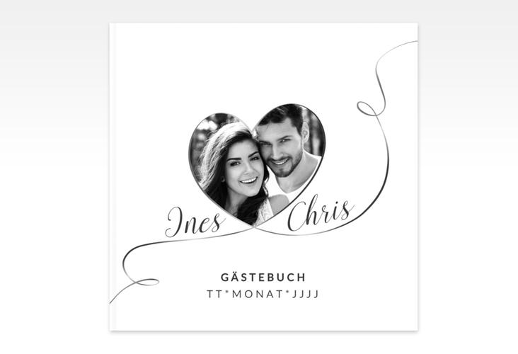 "Gästebuch Creation ""Dolce"" 20 x 20 cm, Hardcover weiss"