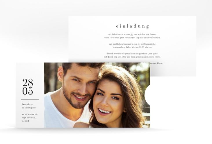 """Hochzeitseinladung """"Minimal"""" Einsteckkarte"""