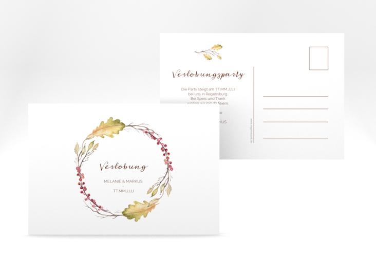 """Verlobungskarte Hochzeit """"Herbsthochzeit"""" A6 Postkarte"""