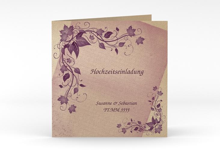 """Hochzeitseinladung """"Erfurt"""" Quadratische Klappkarte"""