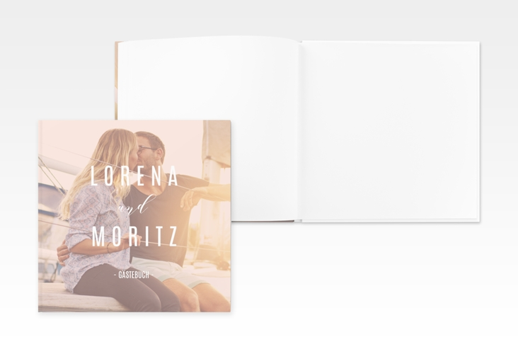 "Gästebuch Creation ""Memory"" 20 x 20 cm, Hardcover rosa"