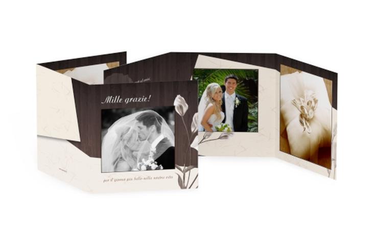 Ringraziamenti matrimonio collezione Barcelona Quadr. Karte doppelt