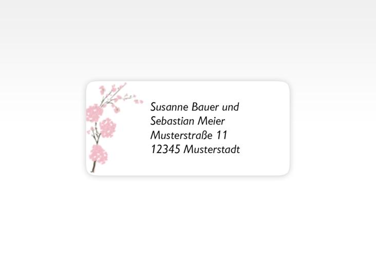 """Absenderetikett Hochzeit """"Salerno"""" 45,7 x 21,2 mm rosa"""
