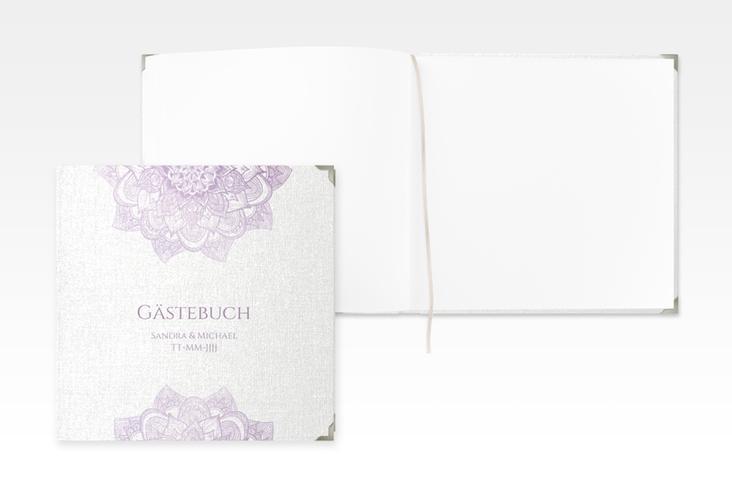 """Gästebuch Selection Hochzeit """"Delight"""" Leinen-Hardcover flieder"""