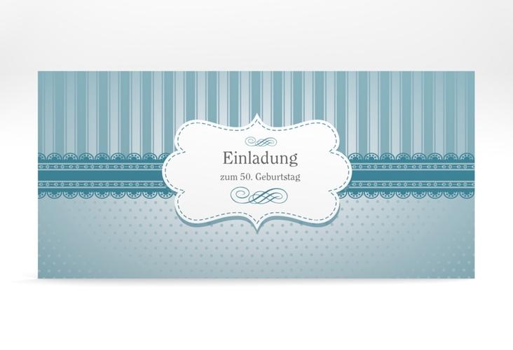 """Einladungskarte """"Heinrich/Henriette"""" DIN lang"""